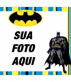 Livre quadro Batman personalizar com as suas fotos para