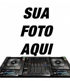 Efeito de foto para colocar sua foto com um misturador DJ para