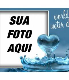 Comemore o Dia da Água com este efeito da foto com um coração