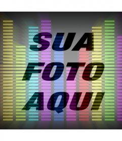 Filtro de linha de equalizador música com colores para sua foto