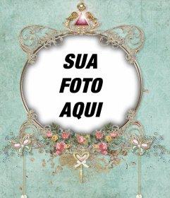 Frame exótico que pode ser editado com fotografia e usá-la como imagem de perfil