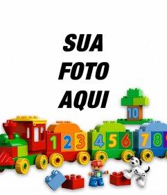 Foto efeito de brinquedos para fazer upload de uma foto de sua criança