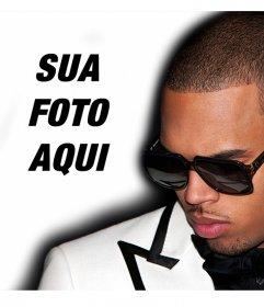 Junte-se a Chris Brown upload do seu foto para o efeito efeito