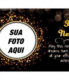 Cartão customizável com uma bela frase de Natal para adicionar sua foto