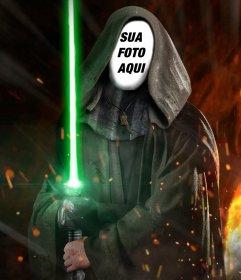 Fotomontagem para colocar sua foto no rosto de Luke Skywalker de Star Wars