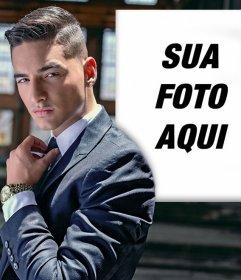 Efeito da foto com Maluma para colocar sua foto ao lado dele