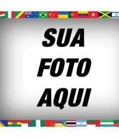 Todas as bandeiras do mundo em sua foto