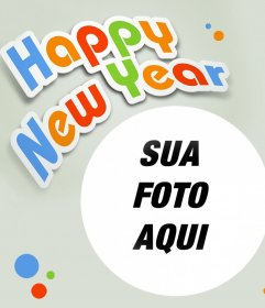 Fotomontagem Feliz Ano Novo para seu