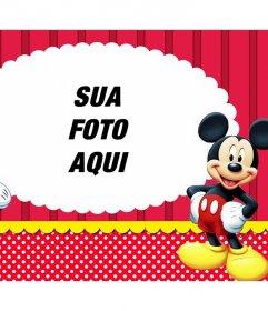 Efeito da foto com Mickey e Minnie para carregar o seu Editar foto favorita