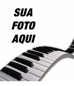 Decore suas fotos adicionando uma teclas do piano sobre eles