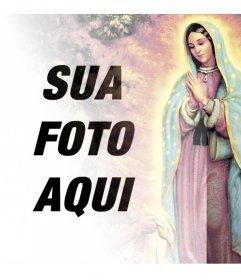 Fotomontagens com imagens da Virgem de Guadalupe
