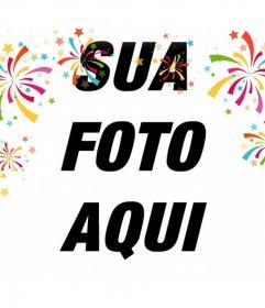 Efeito decorativo da foto com confetes coloridos para suas fotos