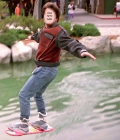 Fotomontagem Marty McFly volta para o futuro para colocar o seu rosto