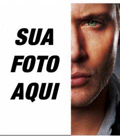 Criar uma fotomontagem fusão metade do rosto de Jensen Ackless seu rivalizing para o lado oposto