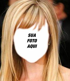 Fotomontagem para mudar o seu penteado em linha e ser loira