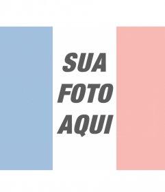 Fotomontagens com a bandeira francesa em sua foto