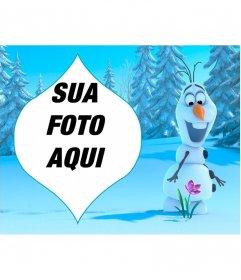 Colagem de Olaf de Congelados