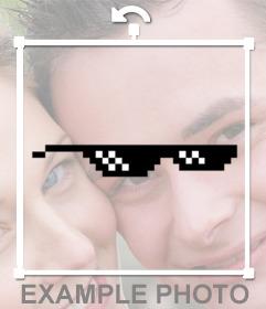 óculos de Pixelated Adesivos Negócio com ele meme