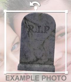 Etiqueta de um antigo túmulo sem nome