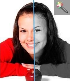 Filtro preto e branco para editar fotos online