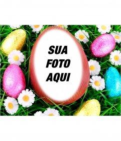 Fotomontagem para colocar sua imagem dentro de um ovo de Páscoa