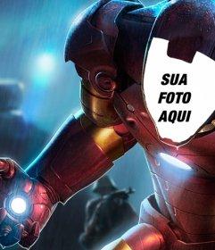 Fotomontagem para colocar seu rosto no especial armadura do Homem de Ferro