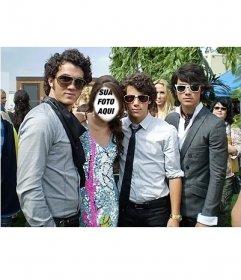 Seja a menina que é com os Jonas Brothers, editando este efeito
