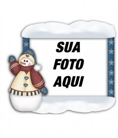 Enquadrar as suas fotos com boneco de neve de Natal que você pode fazer on-line e colocar sua foto