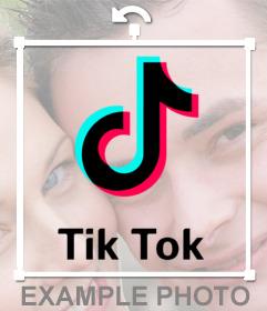 Coloque o logotipo TikTok na sua foto online