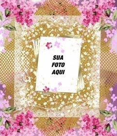 Quadro com muitas flores para decorar suas fotos online