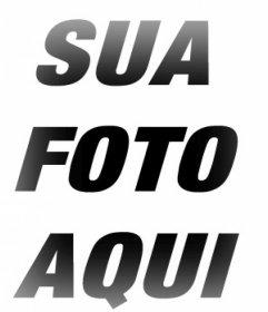 Frame de retrato com bordas borrão efeito para suas fotos