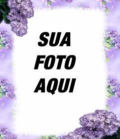 Flores violetas para decorar suas fotos com este quadro
