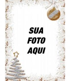 Decoração de Natal Vertical para fotos com uma árvore