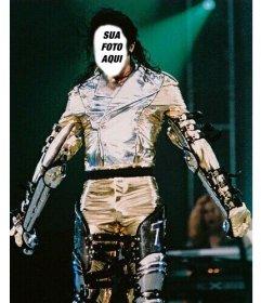 Montagem da foto de Michael Jackson customizável com seu efeito de imagem
