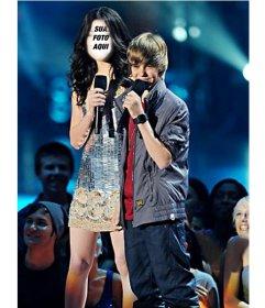 Fotomontagem de Miranda Cosgrove Online com Justin Bieber