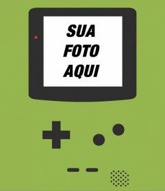 Background Game Boy para suas fotos em uma tela de laptop. Crie este