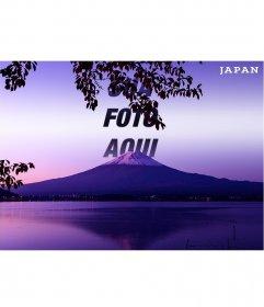 Cartão do Monte Fuji no Japão com sua foto