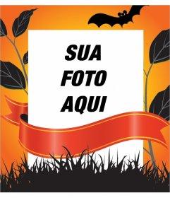 Frame decorativo para a edição com sua foto para o Dia das Bruxas