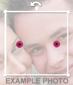 Muda a cor dos seus olhos ao vermelho com este efeito de foto em linha