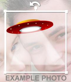 Fotomontagem de um OVNI para colocar em sua foto