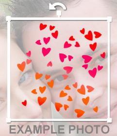 Corações coloridos para colar em suas fotografias