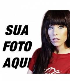 """Fotomontagem com a cantora Carly Rae Jepsen, conhecida pelo single """"Call Me Maybe"""""""