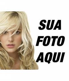 Fotomontagem com Britney Spears loira. Agora você pode ter um retrato com a cantora pop americana Britney Spears