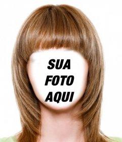 Mudar seu cabelo castanho claro e curto com esta fotomontagem para editar efeito