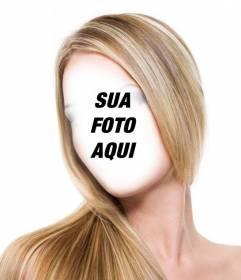 Fotomontagem para ir direto listrado cabelos loiros sem ir ao salão de beleza e graça