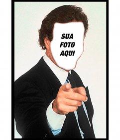 Julio Iglesias Fotomontagem para colocar seu rosto e uma frase e personalizar os famosos memes mais badalados de whatsapp e redes sociais