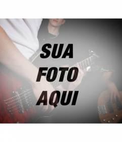 Photo Filter com uma banda com guitarras para criar uma colagem com suas fotos online