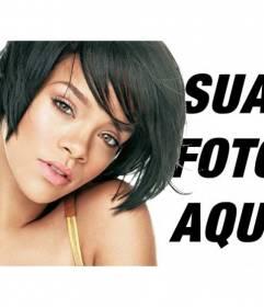 Fotomontagem com imagens de Rihanna
