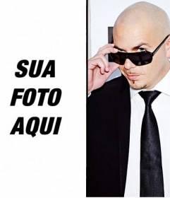 Fotomontagem com o cantor Pitbull fazer online