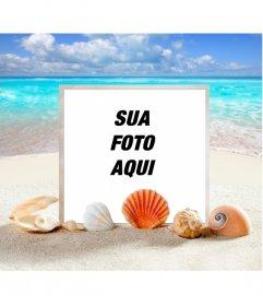 Photo frame Marinha para colocar sua foto em uma praia